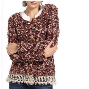 HRW by Anthropologie Womens Cardigan Sweater
